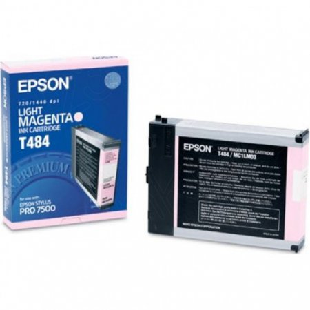 Epson T484011 110ml Ink Cartridge, Light Magenta, OEM