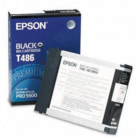 Epson T486011 Ink Cartridge, Black, OEM