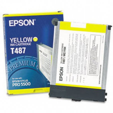 Epson T487011 Ink Cartridge, Yellow, OEM