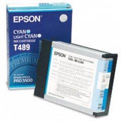 Epson T489011 Ink Cartridge, Cyan, OEM