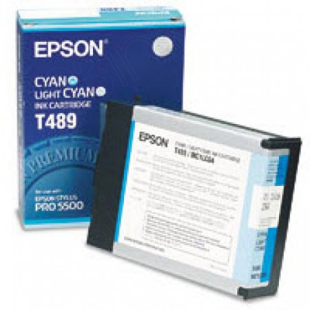 Epson T489011 Ink Cartridge, Cyan, OEM