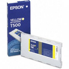 Epson T500011 500ml Ink Cartridge, Yellow, OEM