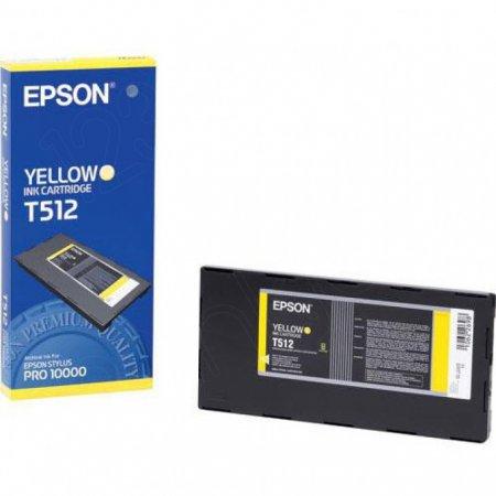 Epson T512011 Ink Cartridge, Yellow, OEM