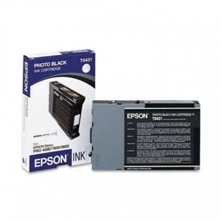 Epson T543100 110ml Ink Cartridge, Photo Black, OEM