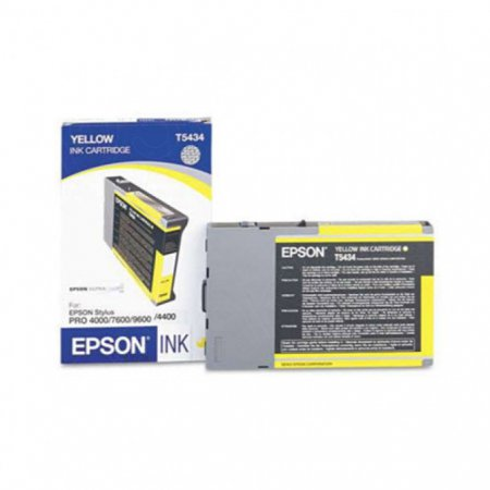 Epson T543400 110ml Ink Cartridge, Yellow, OEM
