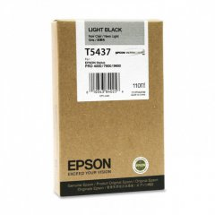 Epson T543700 110ml Ink Cartridge, Light Black, OEM