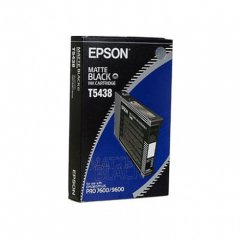 Epson T543800 110ml Ink Cartridge, Matte Black, OEM