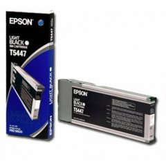 Epson T544700 (T5447) Pigment Ink Cartridge, Light Black, OEM
