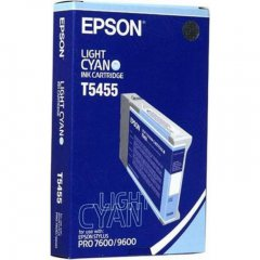 Epson T545500 (T5455) Photographic Dye Ink Cartridge, Light Cyan, OEM