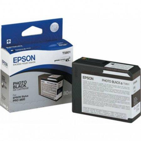 Epson T580100 (T5801) Ink Cartridge, Photo Black, OEM