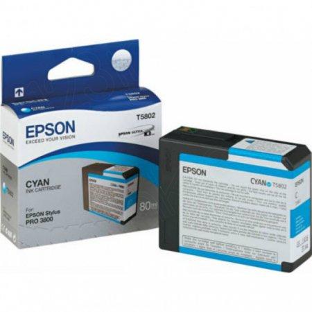 Epson T580200 (T5802) Ink Cartridge, Cyan, OEM