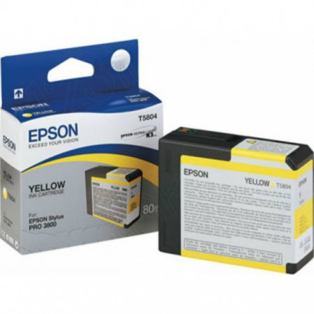 Epson T580400 (T5804) Ink Cartridge, Yellow, OEM