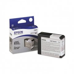 Epson T580700 Ink Cartridge, Light Black, OEM