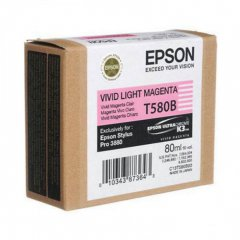 Epson T580B00 Ink Cartridge, Light Magenta, OEM