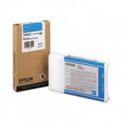 Epson T603200 220ml Ink Cartridge, Cyan, OEM