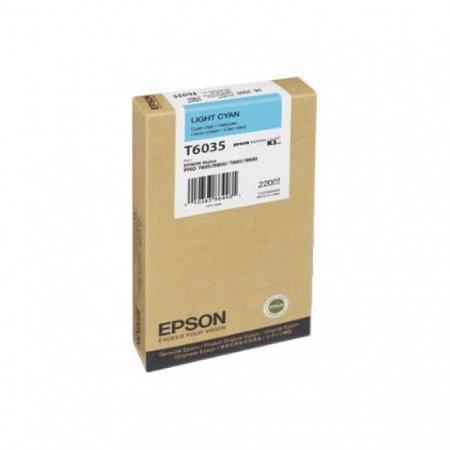 Epson T603500 220ml Ink Cartridge, Light Cyan, OEM