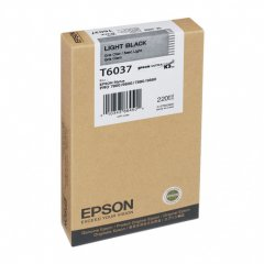 Epson T603700 220ml Ink Cartridge, Light Black, OEM