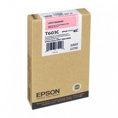 Epson T603C00 220ml Ink Cartridge, Light Magenta, OEM