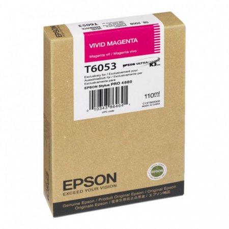 Epson T605300 Ink Cartridge, Vivid Magenta, OEM