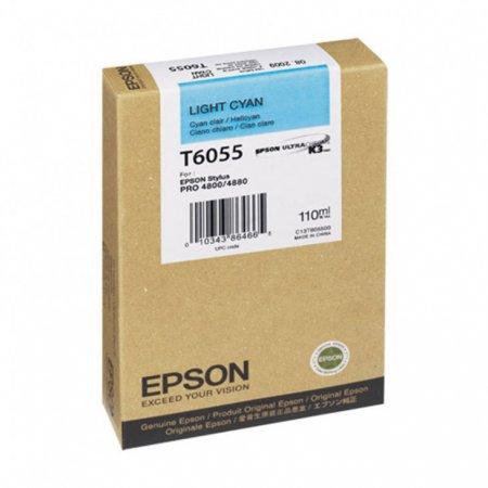 Epson T605500 Ink Cartridge, Light Cyan, OEM