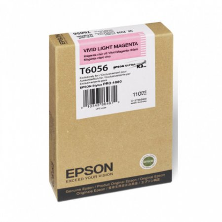 Epson T605600 Ink Cartridge, Vivid Light Magenta, OEM