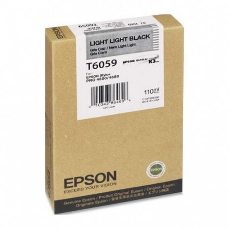 Epson T605900 Ink Cartridge, Light Light Black, OEM