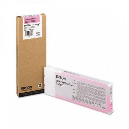Epson T606C00 220 ml Ink Cartridge, Light Magenta, OEM