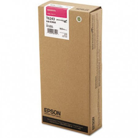 Epson T624300 950ml Ink Cartridge, Magenta, OEM