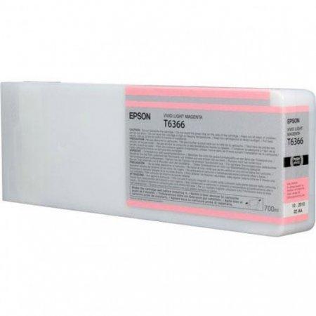 Epson T636600 Ink Cartridge, Light Magenta, OEM