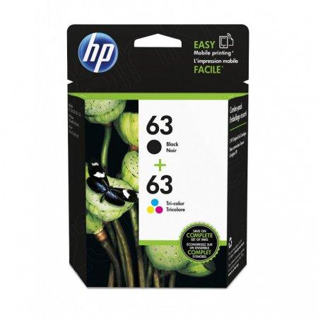 OEM L0R48AN (HP 63) Inks, Black & Tri-color