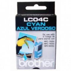 Brother LC04C Ink Cartridge, Cyan, OEM