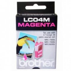 Brother LC04M Ink Cartridge, Magenta, OEM