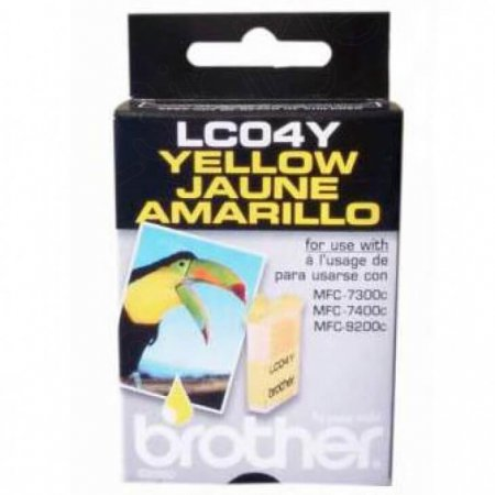 Brother LC04Y Ink Cartridge, Yellow, OEM
