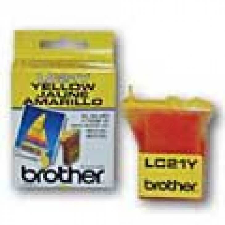 Brother LC21Y Ink Cartridge, Yellow, OEM