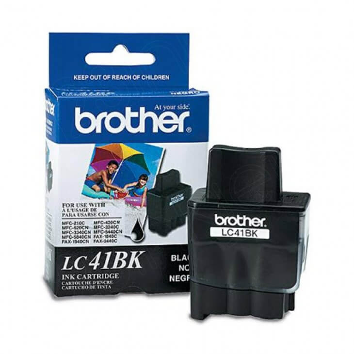Brother LC41Bk Ink Cartridge, Black, OEM