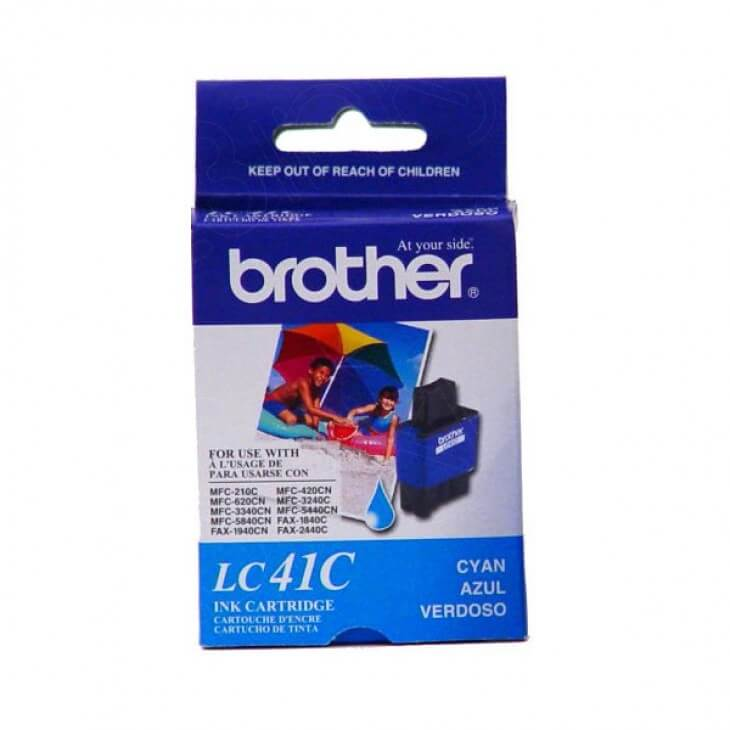 Brother LC41C Ink Cartridge, Cyan, OEM