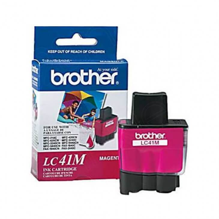 Brother LC41M Ink Cartridge, Magenta, OEM