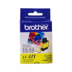 Brother LC41Y Ink Cartridge, Yellow, OEM