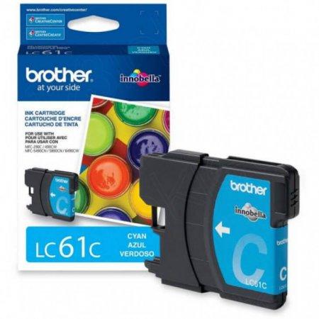 Brother LC61C (LC61) Ink Cartridge, Cyan, OEM