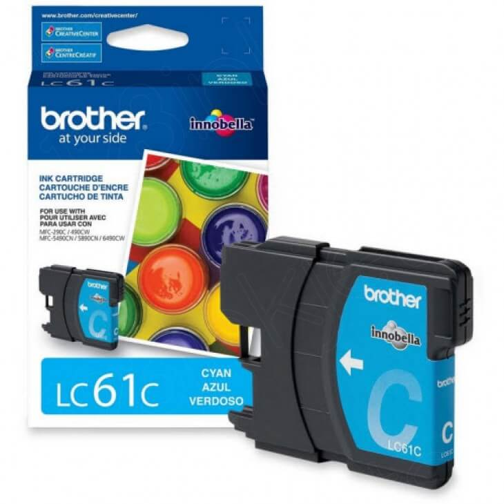 Brother LC61C (LC61) Ink Cartridge, Cyan, OEM
