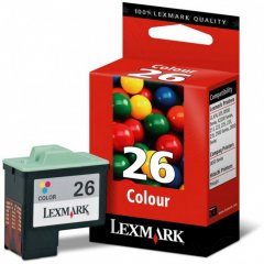 Lexmark 10N0026 Ink Cartridge, Color, OEM