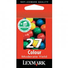 Lexmark 10N0227 Moderate Yield Ink Cartridge, Color, OEM