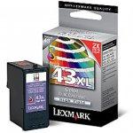 Lexmark 18Y0143 (43) XLInk Cartridge, Color, OEM