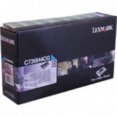 Lexmark OEM C736H4CG High Yield Cyan Toner