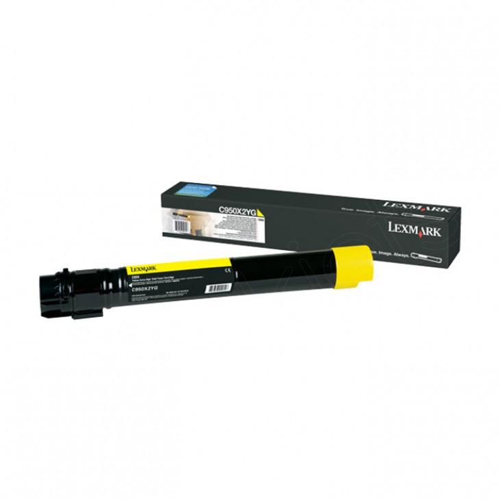 Lexmark OEM C950X2YG Extra High Yield Yellow Toner