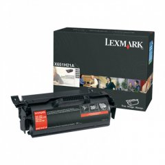 Lexmark OEM X651H21A High Yield Black Toner