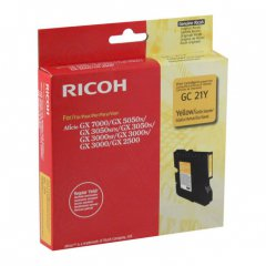 Ricoh 405535 Ink Cartridge, Yellow, OEM