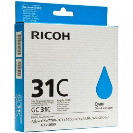 Ricoh 405689 (GC31C) Ink Cartridge, Cyan, OEM