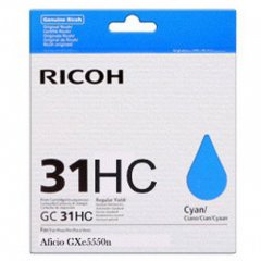 Ricoh 405702 (GC31C HY) Ink Cartridge, Cyan, OEM