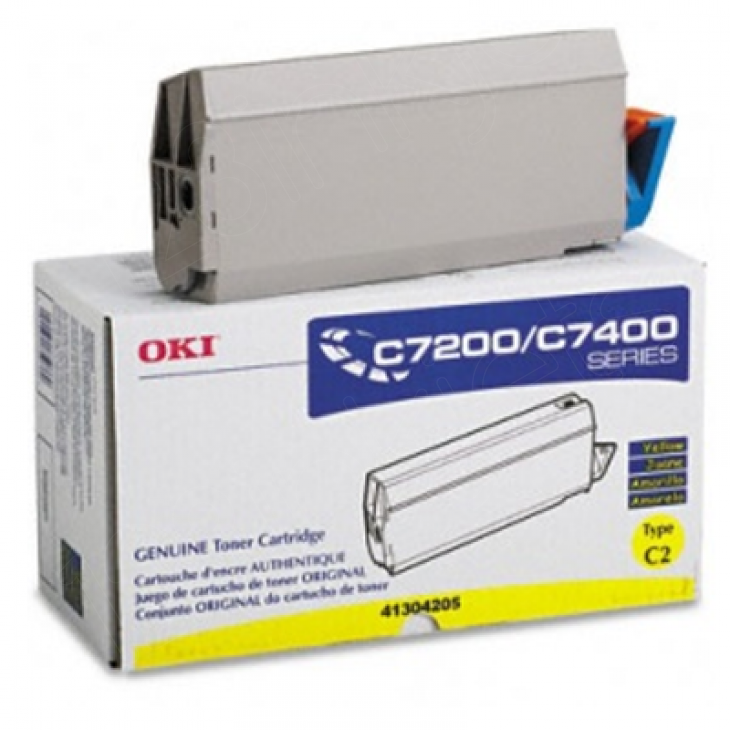 Okidata 41304205 (Type C2) OEM Yellow Laser Toner Cartridge